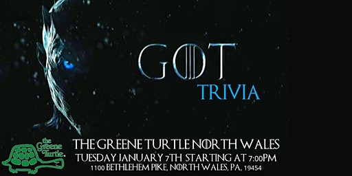 Game of Thrones Trivia at The Greene Turtle North Wales