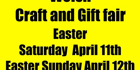 Porthmadog Easter Welsh Craft and Gift fair tickets