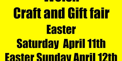 Porthmadog Easter Welsh Craft and Gift fair