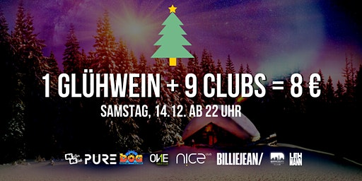1 Glühwein + 7 Clubs = 8 € / Samstag, 14.12. Stuttgart