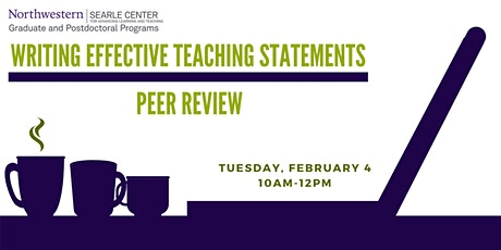 Writing an Effective Teaching Statement: Peer Review tickets