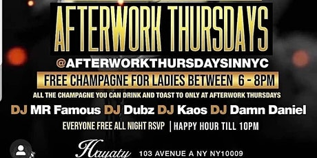 After work Thursday's Happy Hour Til 10pm tickets