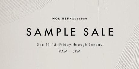MOD REF x all:row VIP Sample Sale tickets