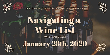 How to Navigate a Wine List tickets