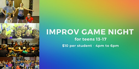 Improv Game Night for Teens 13+: Comedy & Theatre Games tickets
