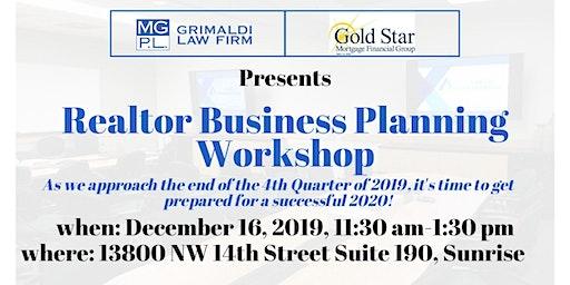 Realtor Business Plan Workshop 2020