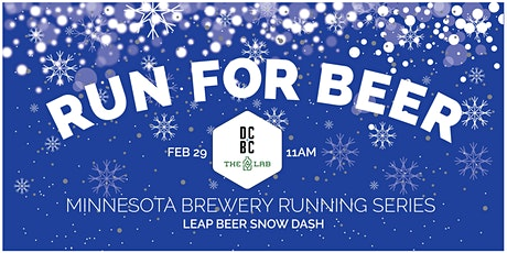 Beer Run - Leap Beer Snow Dash   Part of the 2020 MN Brewery Running Series tickets