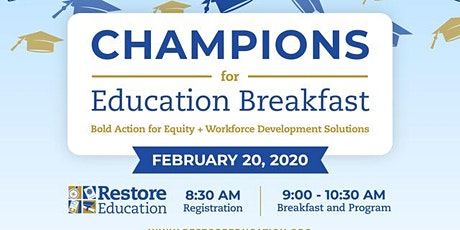Champions for Education Breakfast tickets