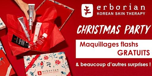 Christmas Party Erborian La Défense - Maquillages gratuits et surprises !