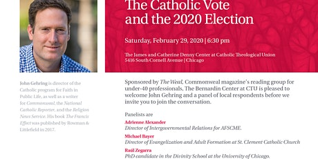 The Catholic Vote in 2020 with John Gehring tickets