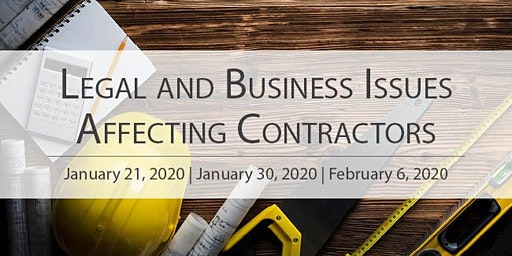 Legal & Business Issues Affecting Contractors 2020