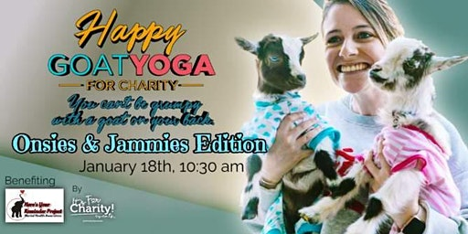 Happy Goat Yoga-For Charity: Onesies & Jammies Edition at Sports Garden DFW