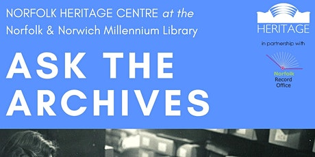 Ask the Archives - Free One-to-One Research Advice tickets