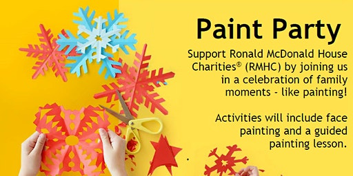 Free Family Painting Party - Round-Up for RMHC Event