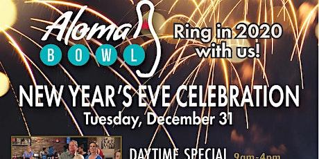Aloma Bowl's daytime NYE celebration tickets