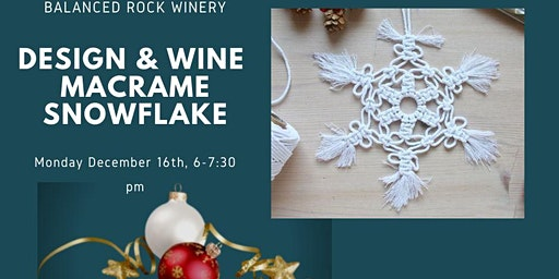 Design & Wine 70's night make your own macrame snowflake