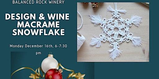 Design & Wine 70's night make your own macrame snowflake