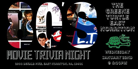80's Movies Trivia at The Greene Turtle East Norriton tickets