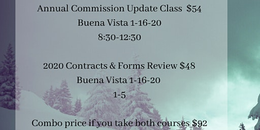 Buena Vista Annual Commission Update & Contracts & Forms Review