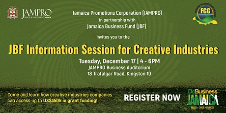Jamaica Business Fund Information Session tickets