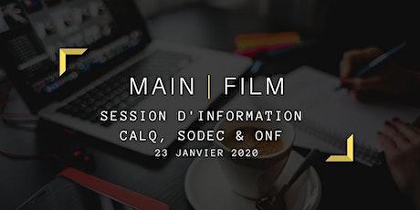 Session d'information CALQ, SODEC & ONF billets