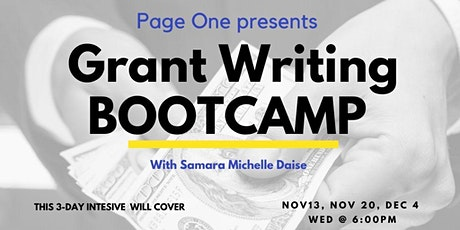 3-DAY REAL WORLD GRANT WRITERS BOOTCAMP tickets