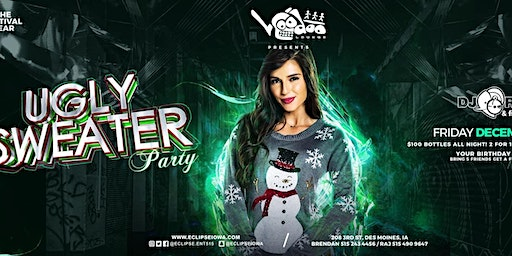 Ugly Sweater Party and Voodoo Lounge Des Moines