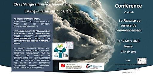 Finance au service l'environnement