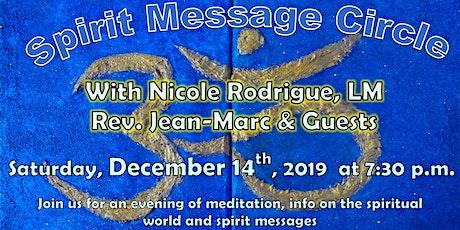 Spirit Message Circle tickets