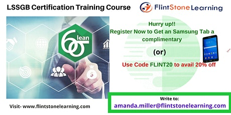 Lean Six Sigma Green Belt (LSSGB) Certification Course in Burlington, CA tickets