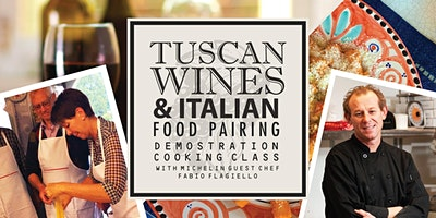 Tuscan Wines & Italian Food Pairing Demonstration Cooking Class w/ Fabio