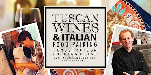 Tuscan Wines & Italian Food Pairing Demonstration Cooking Class w/ Fabio