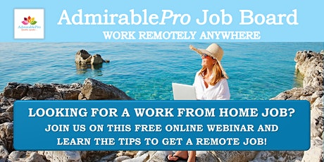 How to get a Work From Home Job? tickets
