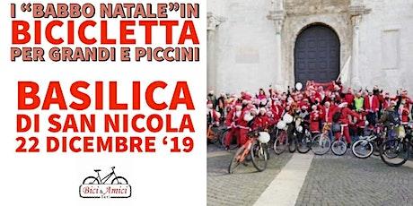 """I """" Babbo Natale"""" in bicicletta per grandi e picci biglietti"""