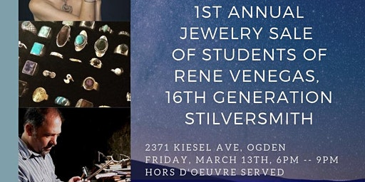1st Annual Jewelry Sale; pieces made by students of Rene Venegas