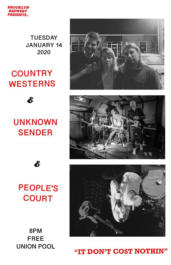 Country Westerns • Unknown Sender • People's Court image