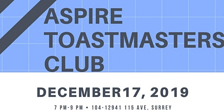 ASPIRE Toastmasters Club at MFBCS tickets