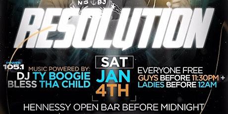 LifestyleSaturdays Presents Resolution | Hennessy Open Bar + Free Entry tickets
