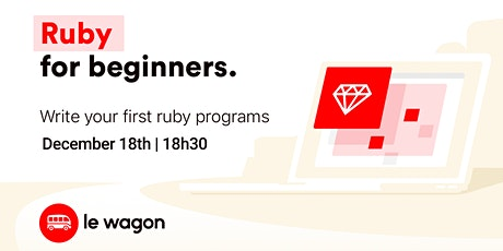 Ruby for Beginners | Free workshop with Le Wagon Rio Coding Bootcamp ingressos