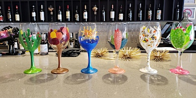 New Year New Wine Glass Painting Class at Peacock Wine Bar