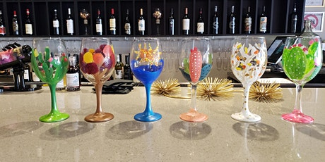 New Year New Wine Glass Painting Class at Peacock Wine Bar tickets