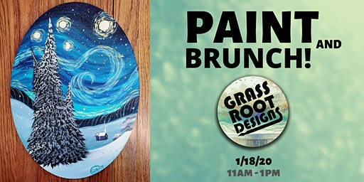 A Starry Winters Night | Paint + Brunch!