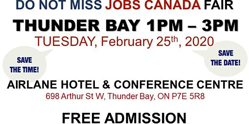 Thunder Bay Job Fair - February 25th, 2020