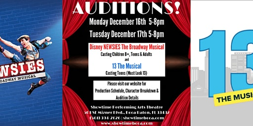 Disney NEWSIES The Broadway Musical Auditions
