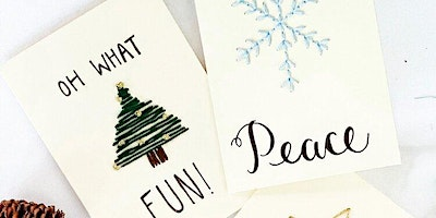 Modern Calligraphy & Embroidered Cards