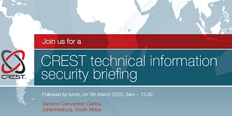 CREST Technical Security Briefing (South Africa) tickets