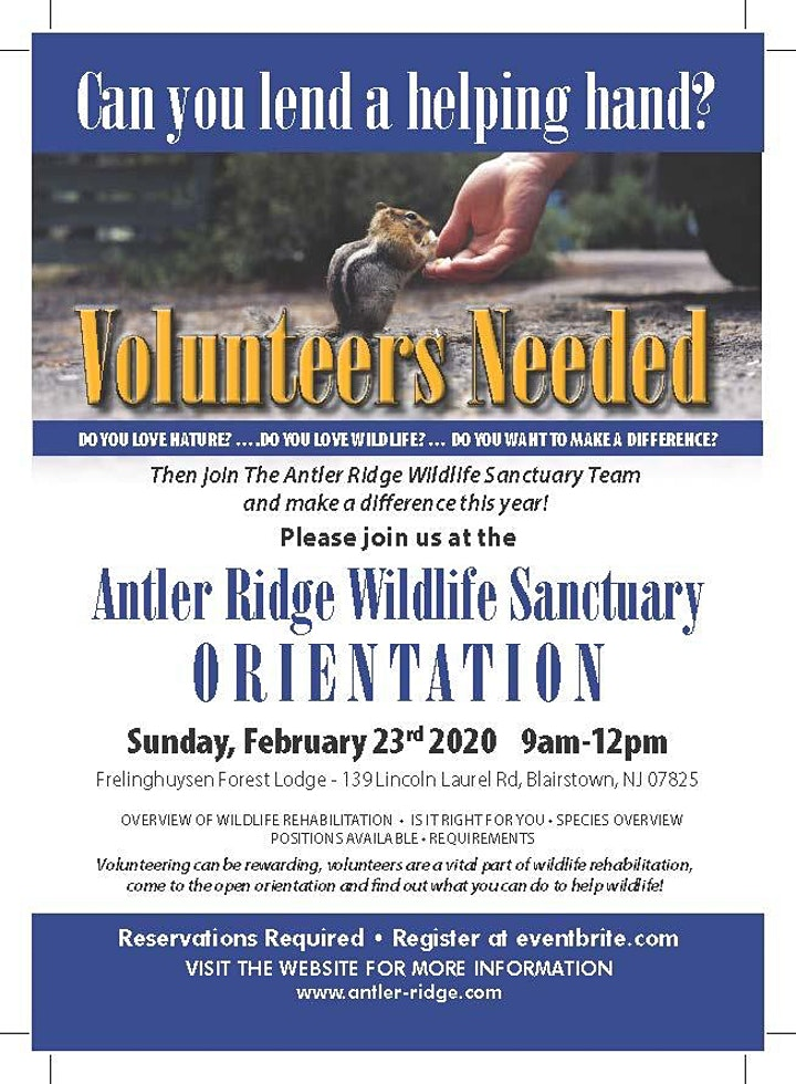 Volunteer Orientation Antler Rdige Wildlife Sanctuary image