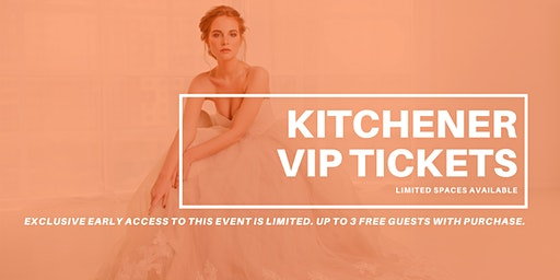 Opportunity Bridal VIP Early Access Kitchener Pop Up Wedding Dress Sale