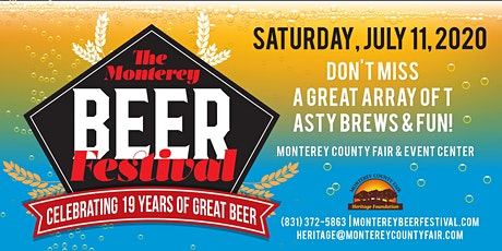 2020 The Monterey Beer Festival tickets