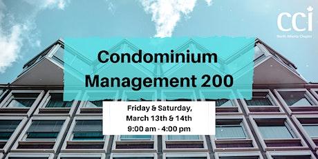Condominium Management 200 (CCI Seminar) tickets